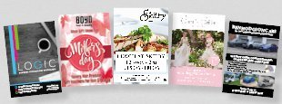 assorted printed flyers